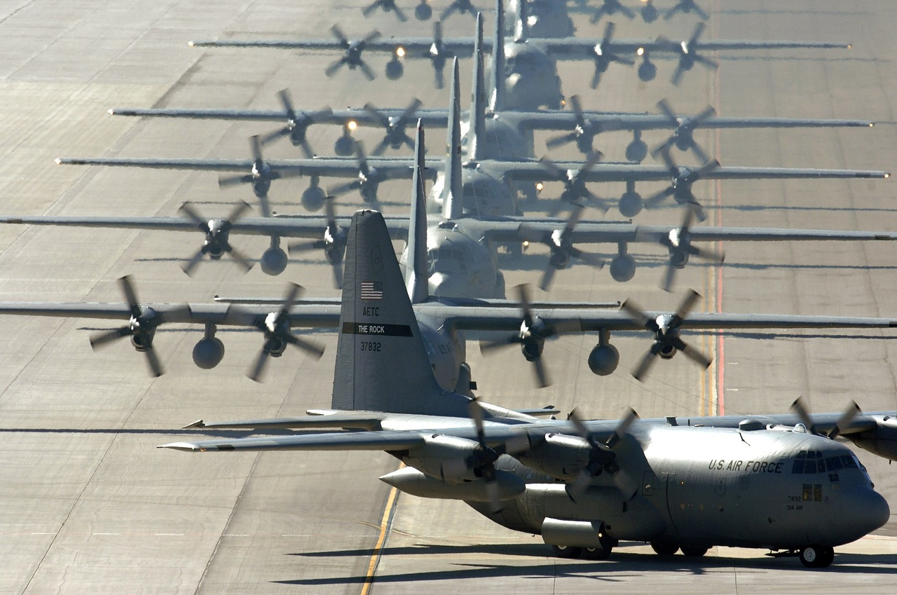 C-130s On Flightline