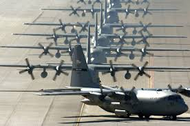 Lockheed C-130 waiting on flight-line